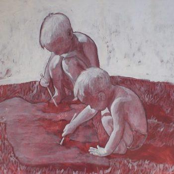Teoksen nimi: Rauha maassa. 2007. 60×80. Akryylimaalaus
