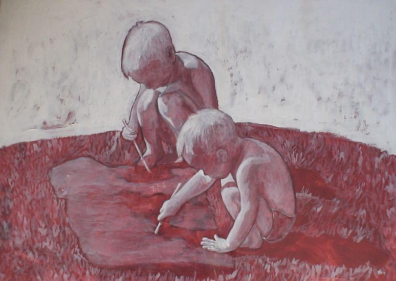 Rauha maassa. 2007. 60×80. Akryylimaalaus