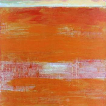 Teoksen nimi: Nel Fra (Välissä/Between), 2010, akryyli/acrylic, 100 x 70 cm