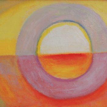 Teoksen nimi: Aurinko laskee länteen/Sun is setting west