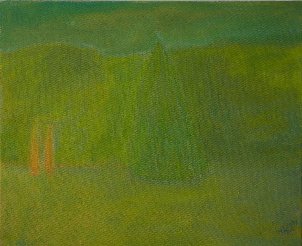 Maisema vihreällä/Landscape with green