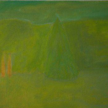 Teoksen nimi: Maisema vihreällä/Landscape with green