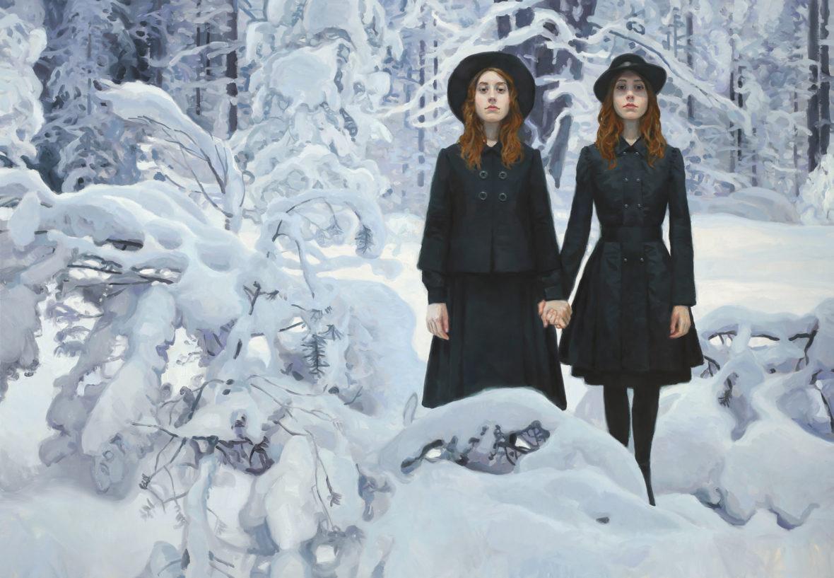 Kaksoset lumisessa metsässä III, 2020