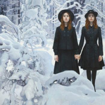 Teoksen nimi: Kaksoset lumisessa metsässä III, 2020