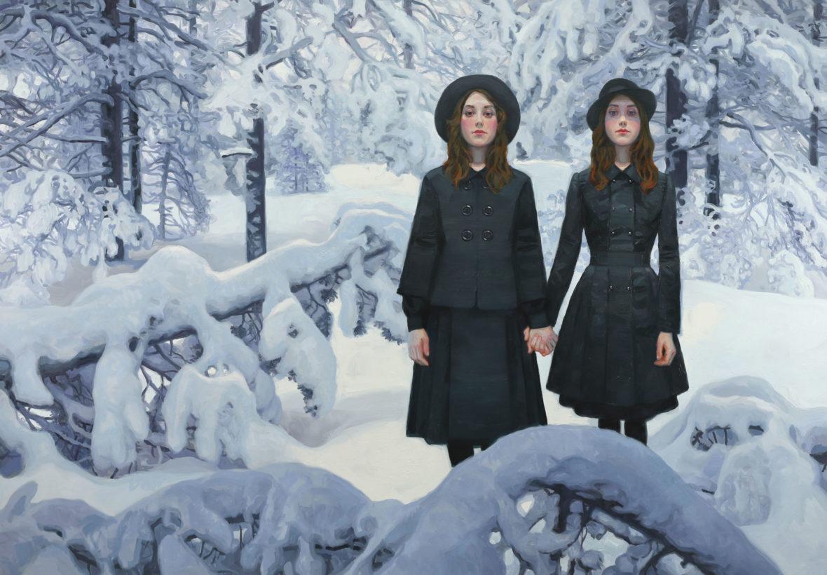 Kaksoset lumisessa metsässä IV, 2020