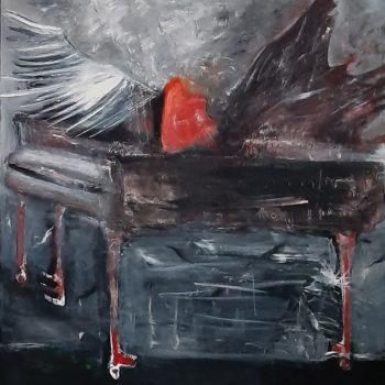 Teoksen nimi: Rakkaus antaa siivet. Love gives wings. 130 x 130. Öljy. Oil. 2020.