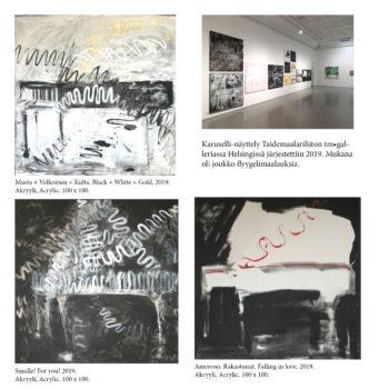 Teoksen nimi: Karuselli-näyttely tm.galleria 2019  /  Exhibition tm.gallery 2019.