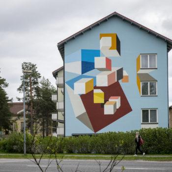 Name of the work: Sommitelma Mäntylinnalle