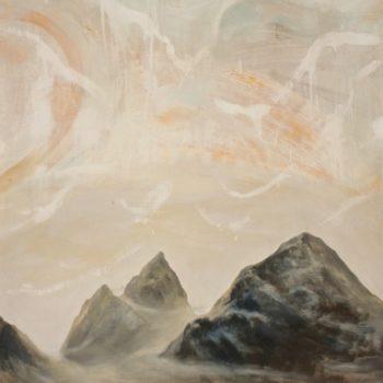 Teoksen nimi: AAMU VUORILLA / MORNING AT THE MOUNTAINS