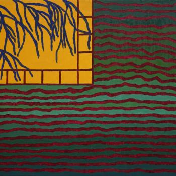 Teoksen nimi: Ikkuna ja auringonlasku II