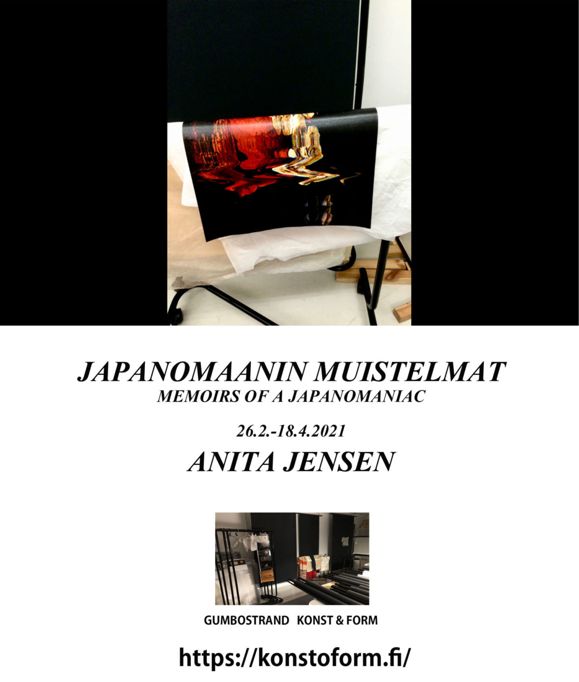 Memoirs of a Japanomaniac; Invitation to the exhibition 2021