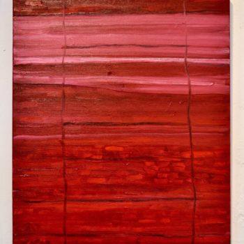 Teoksen nimi: Punainen seinämä/Red panel
