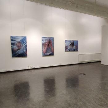 Teoksen nimi: Membrane I, II & III ja Covered näyttelytilassa