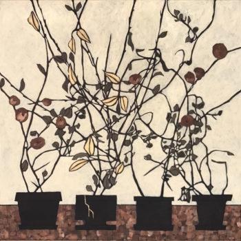 Teoksen nimi: Aurinko virtaa II, sarjasta Kintsugi