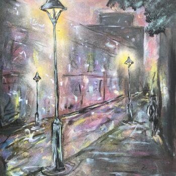 Name of the work: Nighttime street light