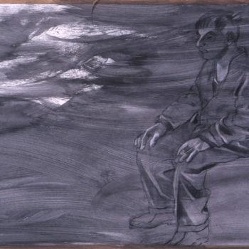 Teoksen nimi: Rannalla istuja sarjasta Paavo