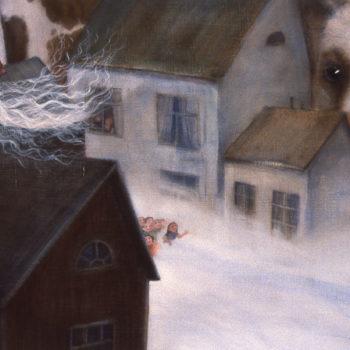 Teoksen nimi: Kuvitus lastenkuvakirjaan Maailman pienin lehmä