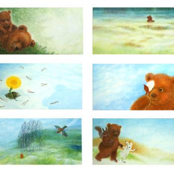 Teoksen nimi: Kuvitus lastenkuvakirjaan Pienenpieni