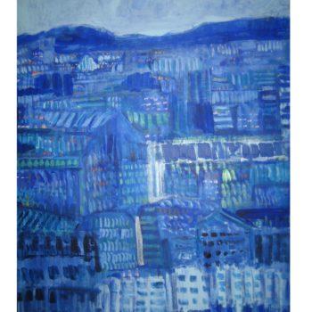 Teoksen nimi: Sininen kaupunki