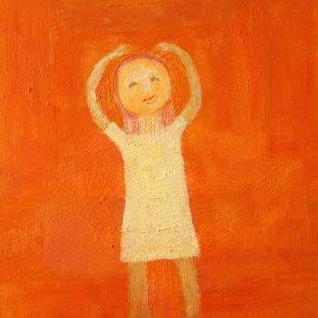 Teoksen nimi: Hymyilevä tyttö/Smiling girl