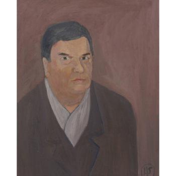 Teoksen nimi: Omakuva tarlvitakisssa/Selfpicture in wintercoat