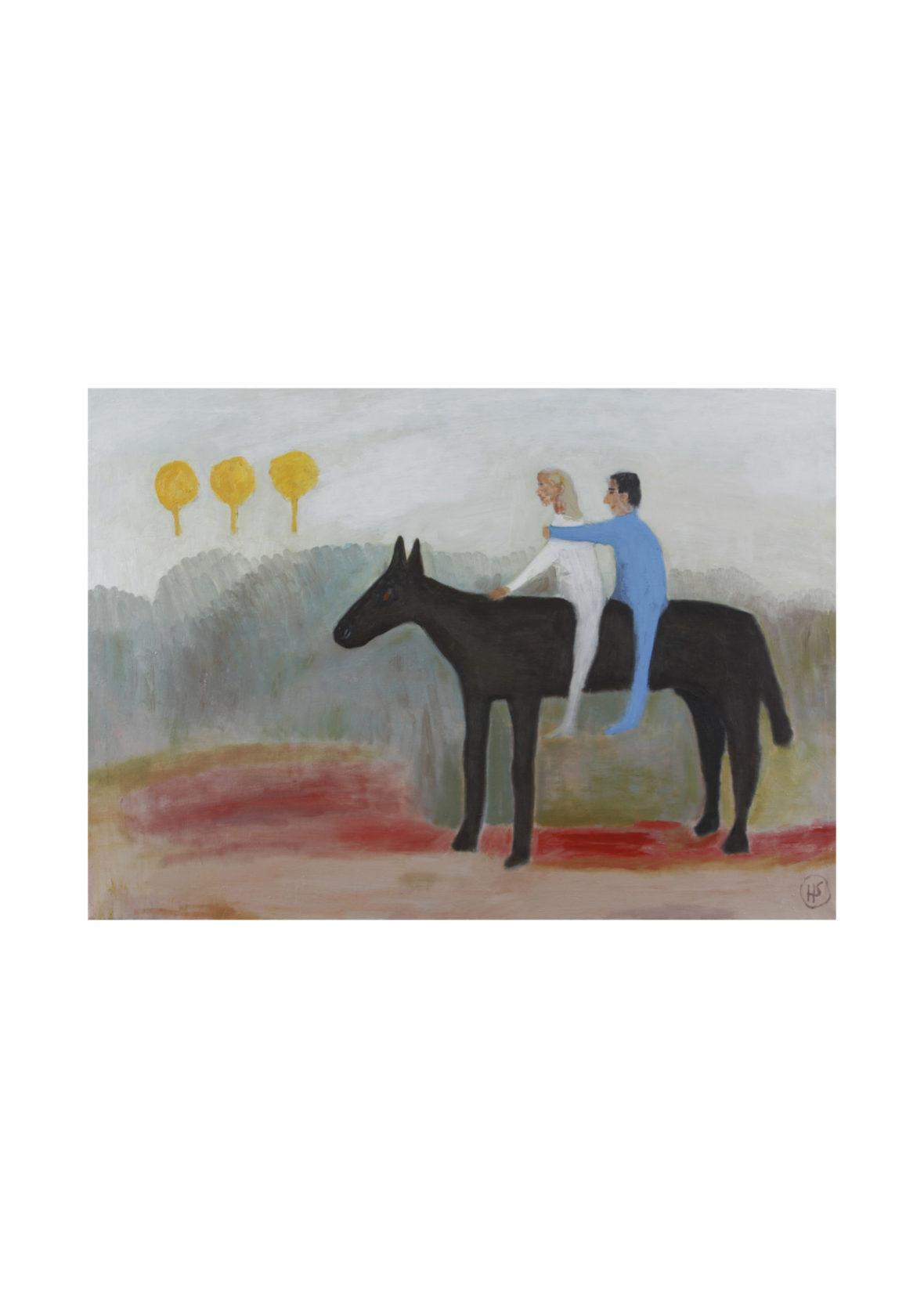 Sinivalkoinen ratsastaja/Blue-and-white rider