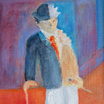 Teoksen nimi: Taiteilija ja porvari/The artist and bourgeois