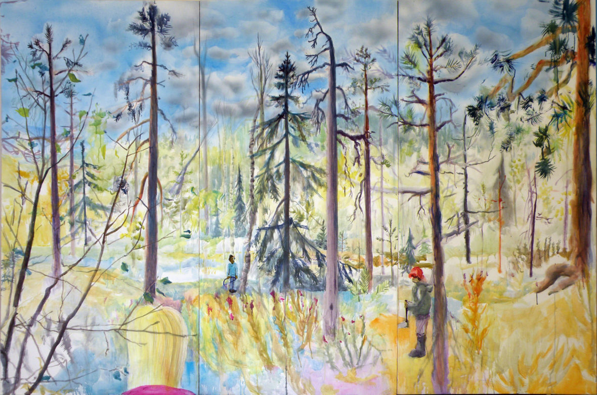 """""""Silent moment for the dead pine tree"""", 2014"""