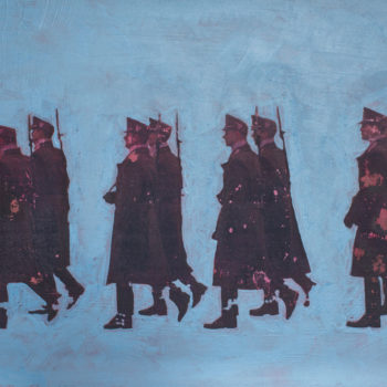 Teoksen nimi: Marssivat sotilaat