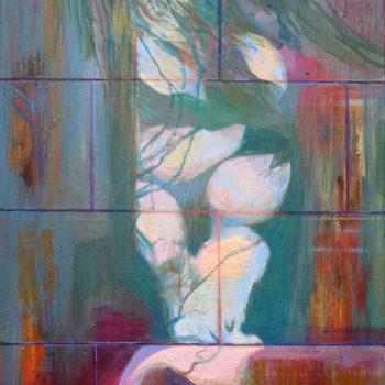 Teoksen nimi: Il Fiore – Kukka – Flower, 2017 – akryyli – 55 x 40 cm
