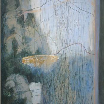Teoksen nimi: Silmä ja mieli lepää  – Eye and mind rest, 2018 – akryyli – 100 x 80 cm