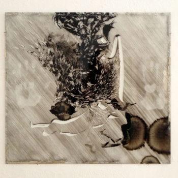 Teoksen nimi: Contemplation painting (Radio Baghdad – Patti Smith 2004) IV
