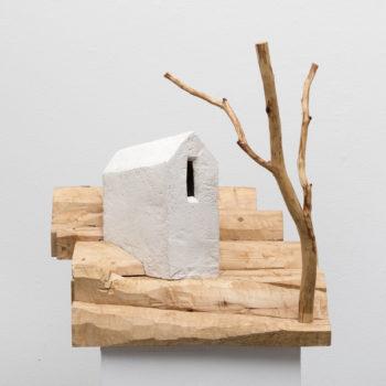 Teoksen nimi: Talo ja puu Modiglianin mukaan