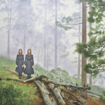 Teoksen nimi: Kaksoset sumuisessa metsässä, 2015