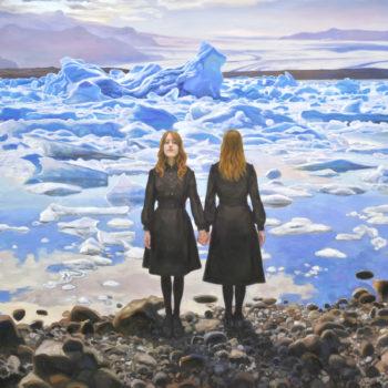 Teoksen nimi: Kaksoset jäätikön reunalla, 2015