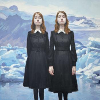 Teoksen nimi: Kaksoset jäätikön reunalla II, 2018