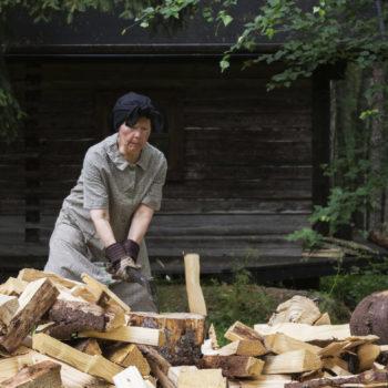 Teoksen nimi: Halkosavotta  /  Firewood