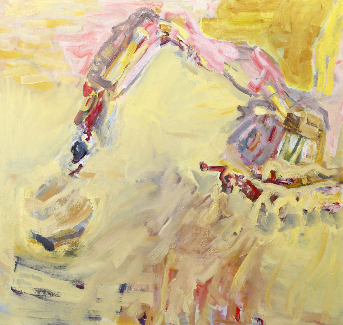 Keltainen kaivinkone  / An Yellow Excavator