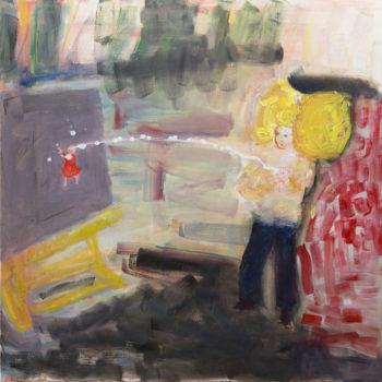 Teoksen nimi: Maito lentää ja maali roiskuu /Milky Way and Splattering Paint