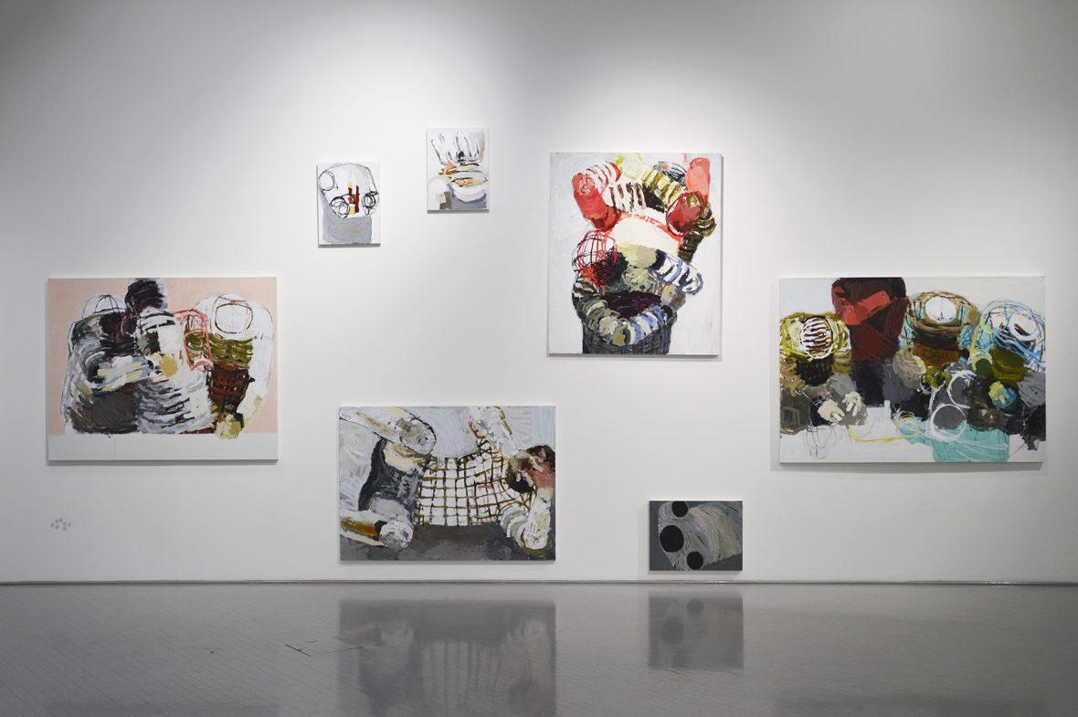 Maalausinstallaatio tm-galleriassa 2014