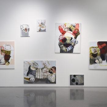 Teoksen nimi: Maalausinstallaatio tm-galleriassa 2014