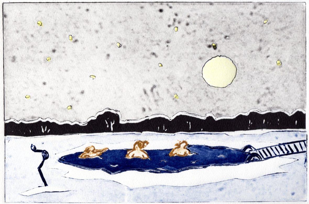 Kylmä kylpy, Ice swimming