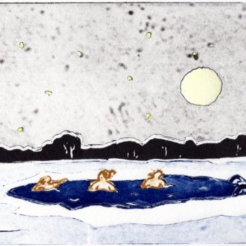 Name of the work: Kylmä kylpy, Ice swimming