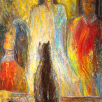 Teoksen nimi: Kissa nostettu pöydälle