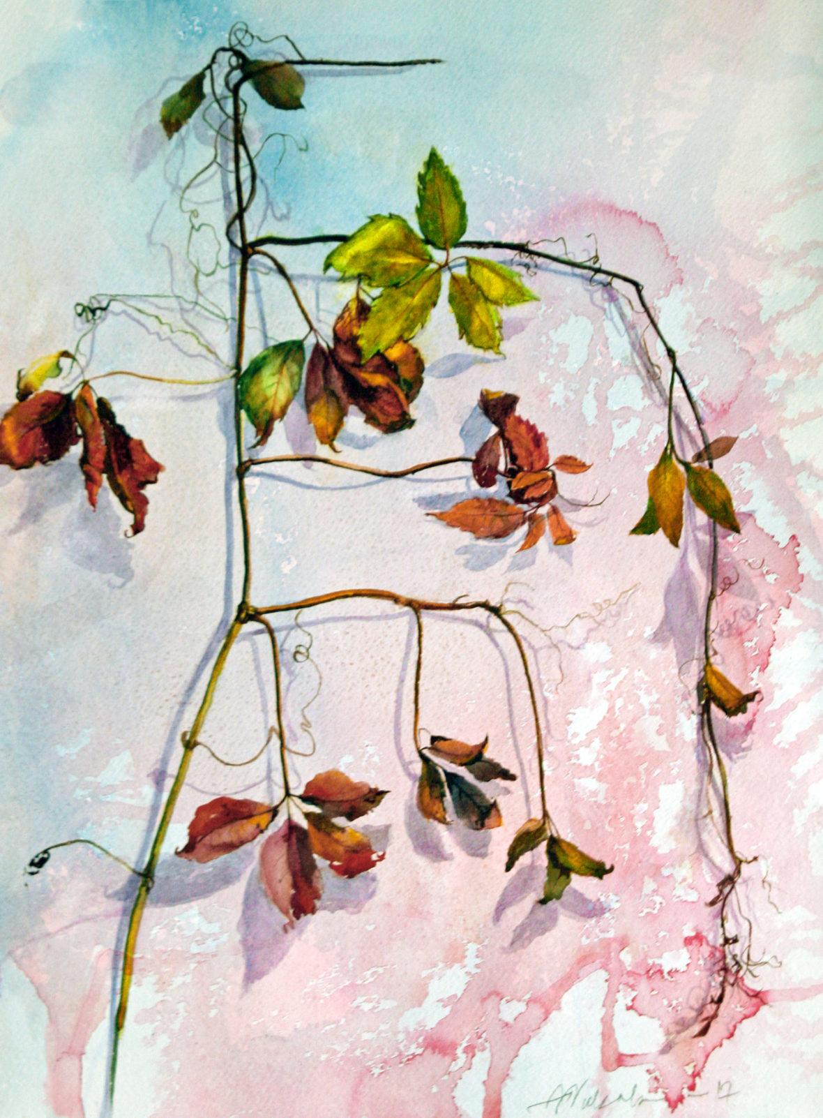 """Sarjasta """"Talven kestävät"""", akvarelli  """"Against the winter"""" watercolor"""