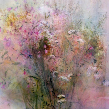 "Teoksen nimi: From the series ""Wild Flowers"" watercolour. Sarjasta ""Villikukkia"" akvarelli"