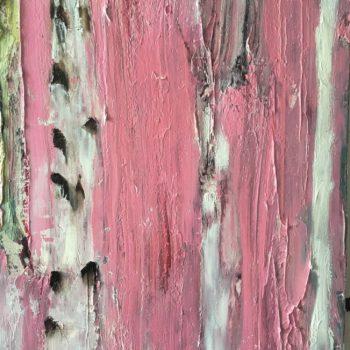 Teoksen nimi: Vaaleanpunainen koivu – Pink Birch