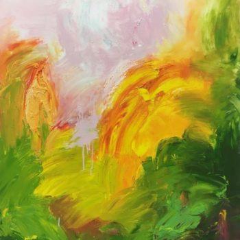 Teoksen nimi: Puisto-sarjasta: Keltainen- From park Series: Yellow