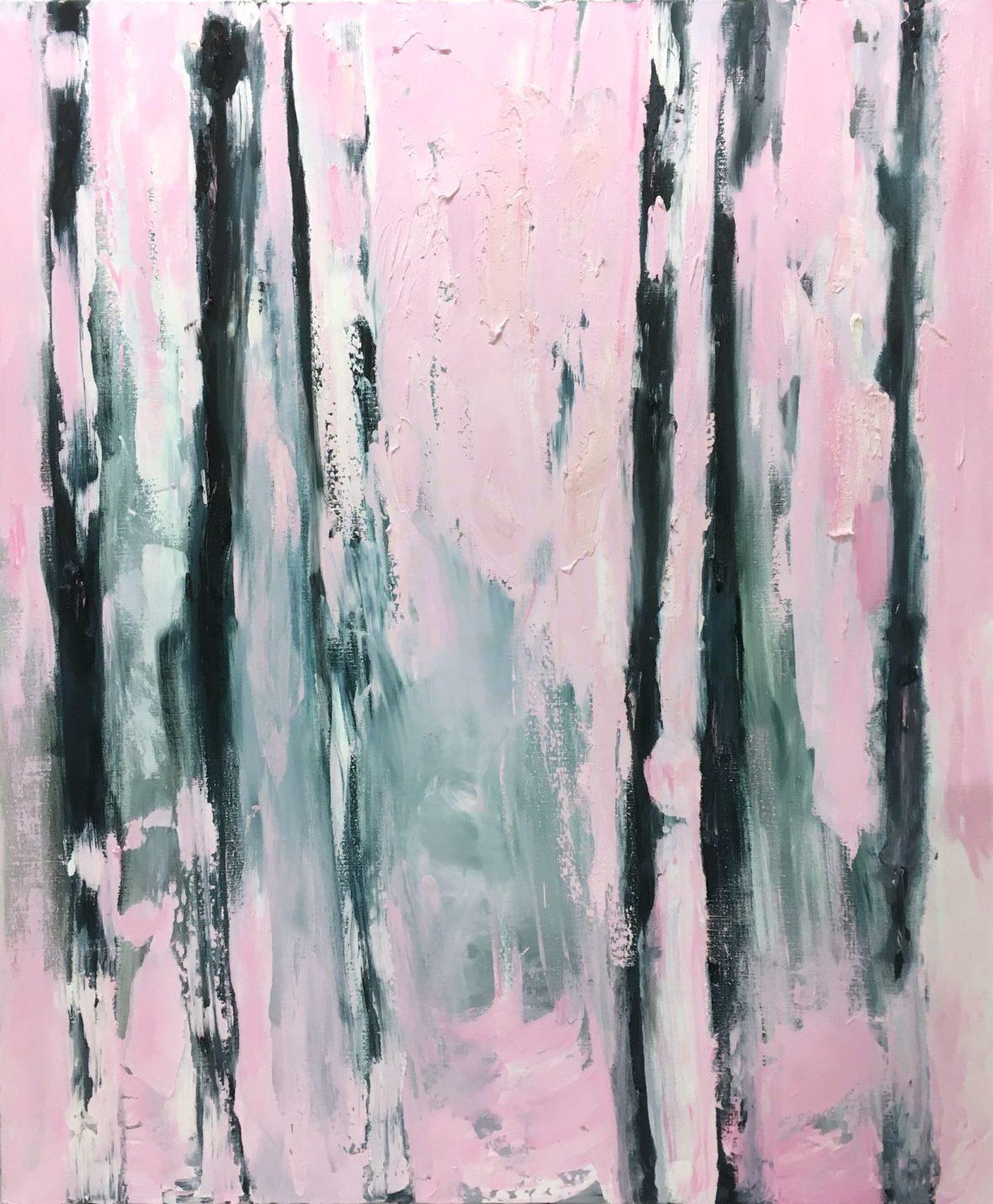 Vaaleanpunainen koivu – Sarjasta Abstraktimpi (Pink Birch Series: More Abstract)