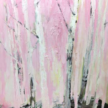 Teoksen nimi: Vaaleanpunainen koivu-sarjasta toistaiseksi nimeämätön (Pink Birch Series)